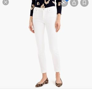 J. Crew Women's cropped Reid Jean in white.